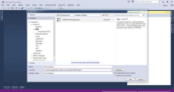 Angular JS VS.Net
